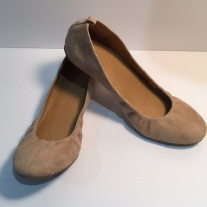 J. Crew ballet nude suede flat shoes Size 8.5